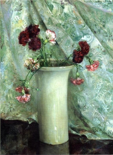 Carnations in a Satsuma Vase.jpg