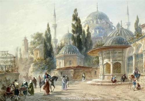 The Sehzade Mosque in Laleli Constantinople.jpg