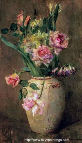 Springflowers with Roses Daffodils and Larkspur.jpg