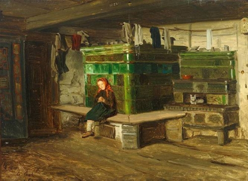 Interior with a Little Girl on the Bench.jpg