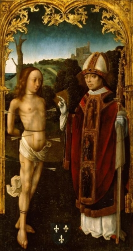 Saint Sebastian and a Bishop Saint.jpg
