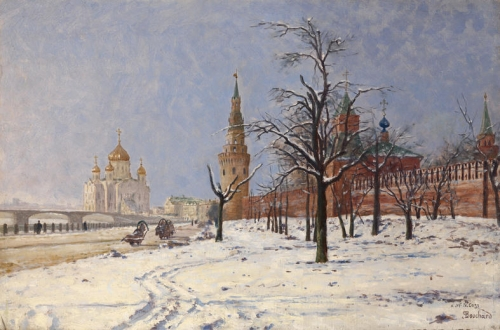 View of the Kremlin and Cathedral of Christ the Saviour in Winter.jpg