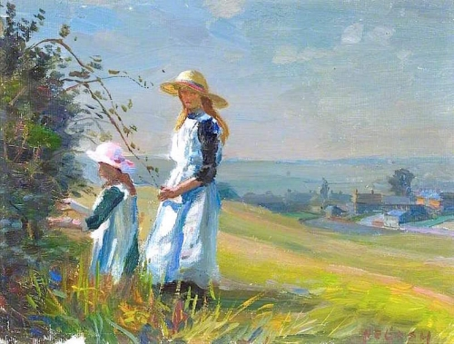 Two Girls Picking Blackberries.jpg