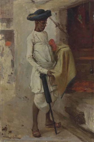 The cloth merchant in the bazaar Bombay.jpg