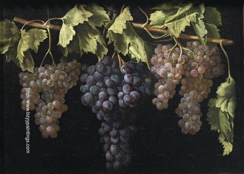 Bodegón con cuatro racimos de uvas.jpg