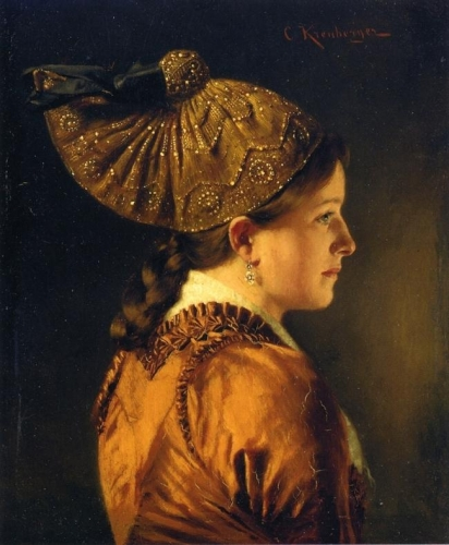 A Portrait of a Girl Wearing a Golden Hood.jpg