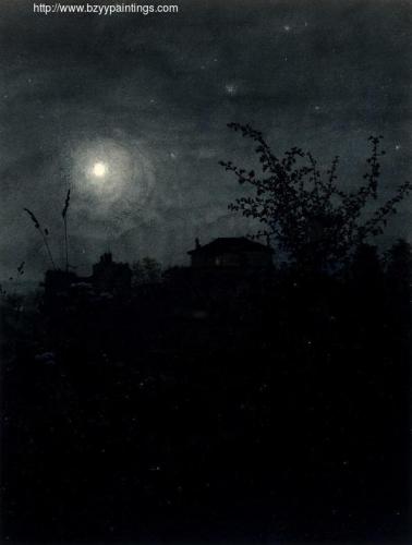 Moonlight Scene Houses in the Background.jpg
