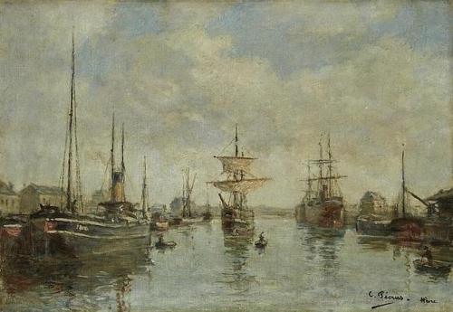 Bateaux dans le port du Havre.jpg
