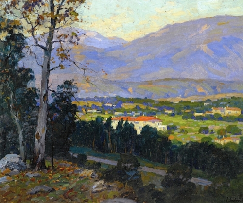 Late Afternoon La Cañada Valley from Flint Ridge Drive Pasadena.jpg