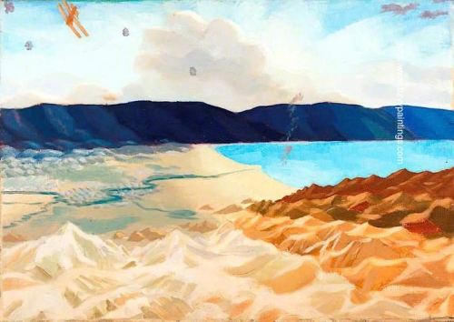 Study for The Dead Sea: An Enemy Aeroplane over the Dead Sea Palestine.jpg