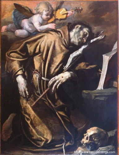 St Francis in Ecstasy Comforted by a Cherub of Music.jpg