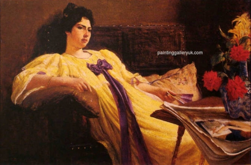 Portrait of a Lady in a Yellow Gown with a Purple Scarf.jpg