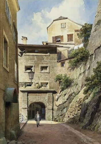 Salzburg Pedestrians at Stone Gate.jpg