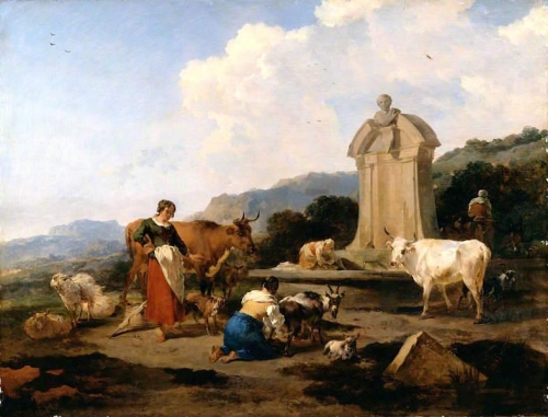Roman Fountain with Cattle and Figures Le Midi).jpg