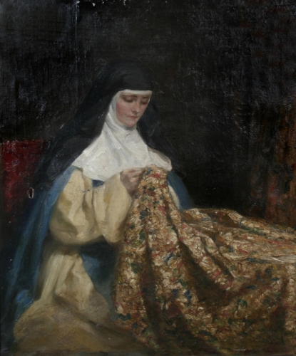 A nun embroidering fabric.jpg