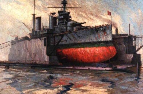 Battle Cruiser HMS Princess Royal in the Floating Dock Portsmouth.jpg