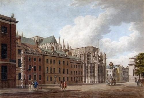 Old Palace Yard Westminster Looking towards Henry VIIs Chapel Westminster Abbey.jpg