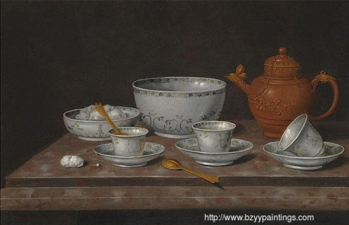 Still Life of a Yixang Metal-mounted Teapot on a Stone Ledge.jpg
