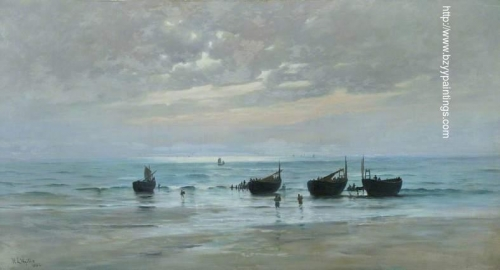 French Fishing Boats at Low Tide.jpg