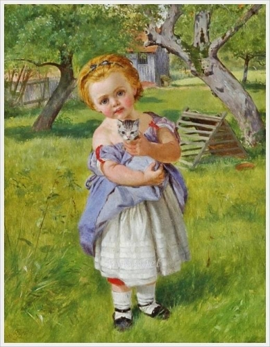Girl and kitten in an orchard.jpg