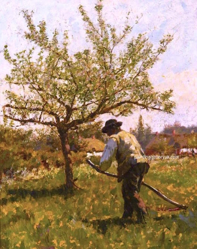 A Man Scything in an Orchard.jpg