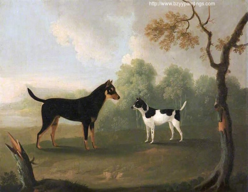 Two Dogs Facing One Another in a Landscape.jpg