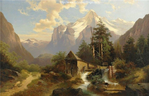 Mountainous Landscape with Mill.jpg