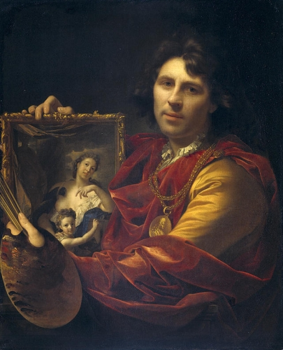 Self Portrait with the Portrait of His Wife and Their Daughter.jpg
