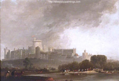 View of Windsor Castle from the River with Cattle and Men on Horseback.jpg