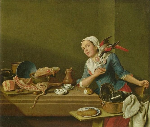 Kitchen Still-life with a Woman and Parrot.jpg