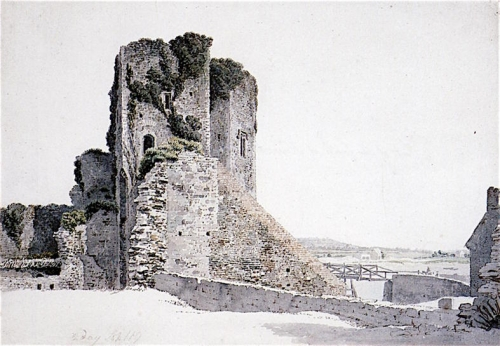 Part of the Castle at Newport on Usk Monmouthshire.jpg