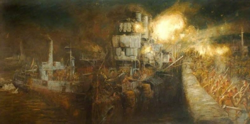 The Storming of Zeebrugge Mole St Georges Day 23 April 1918.jpg