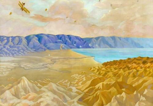 The Dead Sea: An Enemy Aeroplane over the Dead Sea Palestine.jpg