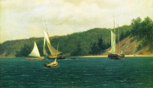 Catboats Entering Port Jefferson Harbor Long Island.jpg