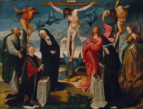 The Crucifixion with Donors and Saints Peter and Margaret.jpg