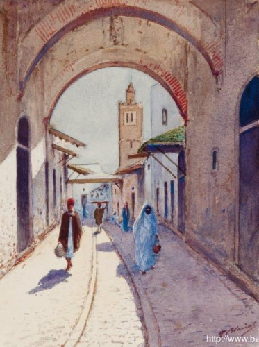 Street in Tunis Rue à Tunis).jpg