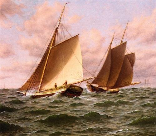 Schooners at Sea: a Close Shave.jpg