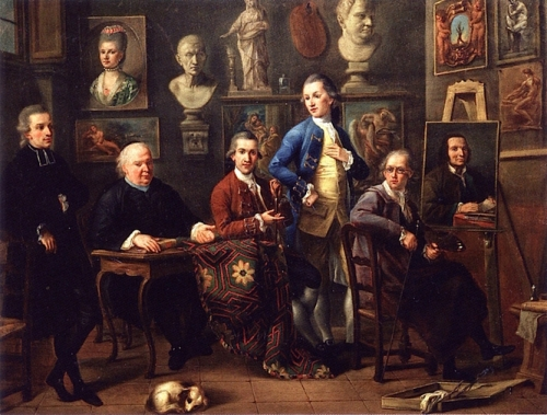 Group Portrait in the Ufizi with Zoffany at the Easel.jpg